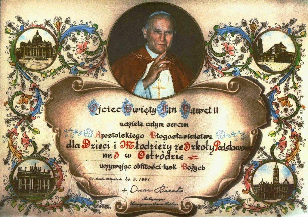 Błogosławieństwo Jana Pawła II